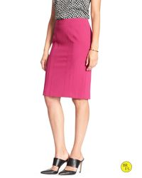 Banana Republic - Pink Factory Seamed Pencil Skirt - Lyst