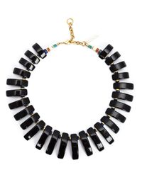 Lizzie Fortunato | Black 'tile' Necklace | Lyst