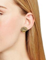 kate spade new york - Metallic Shore Thing Clam Stud Earrings - Lyst