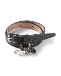 Alexander McQueen - Black Double Wrap Bracelet for Men - Lyst
