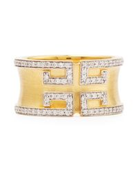 Ivanka Trump | Metallic Metropolis Collection- Diamond Pave Cigar Band Ring | Lyst