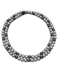 Macy's | White Hematite And Cultured Freshwater Pearl Necklace | Lyst