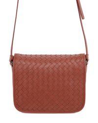 Bottega Veneta - Brown Intrecciato Nappa Leather Shoulder Bag - Lyst