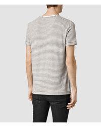 AllSaints - White Colton Baltis Crew T-shirt for Men - Lyst