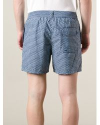 Ferragamo | Blue Patterned Deck Shorts for Men | Lyst