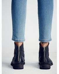 Free People | Black Granada Ankle Boot | Lyst