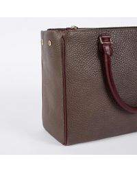 Paul Smith | Gray Women's Grey And Damson Calf Leather Double Zip Tote Bag | Lyst
