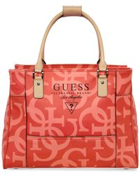 Guess | Orange Thurston Deluxe Tote | Lyst