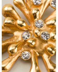 Christian Lacroix | Metallic Crystal Pin Brooch | Lyst