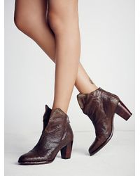 Free People - Brown Adagio Heeled Boot - Lyst