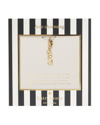 Kate Spade | Metallic How Charming Mrs Charm | Lyst
