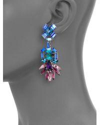 DANNIJO - Multicolor Becker Crystal Drop Earrings - Lyst