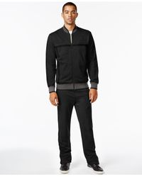 Sean John | Black Sean Jean Challenger Track Suit Set for Men | Lyst