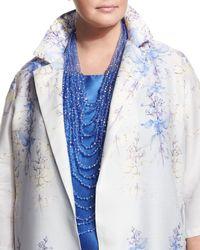 Marina Rinaldi   Blue Layered Laser-cut Beaded Necklace   Lyst