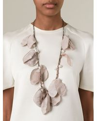 Lanvin - Pink Contrasting Panel Necklace - Lyst