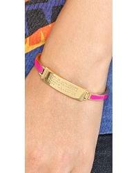 Marc By Marc Jacobs - Pink Standard Supply Fine Enamel Bangle Bracelet Creme - Lyst