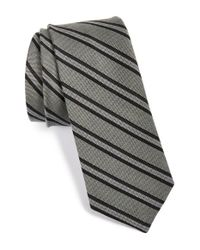 W.r.k. | Gray Stripe Silk Tie for Men | Lyst