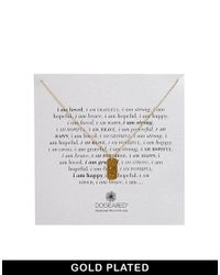 Dogeared - Metallic Gold Plated I Am Loved Dogtag Necklace - Lyst