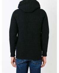 Bark - Black Knitted Duffle Coat for Men - Lyst