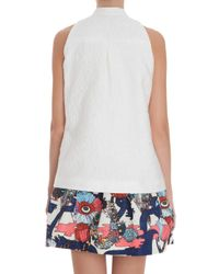 Mary Katrantzou | White Alphabet Top | Lyst