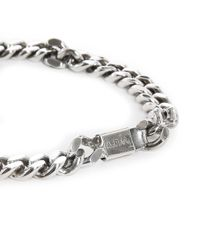 A.P.C. | Metallic Jarvis Silver Chain Bracelet for Men | Lyst