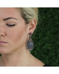 Wendy Yue - Pink Carved Tanzanite Earrings - Lyst