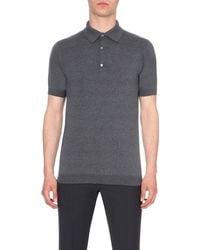 John Smedley | Gray Adrian Cotton Polo Shirt - For Men for Men | Lyst