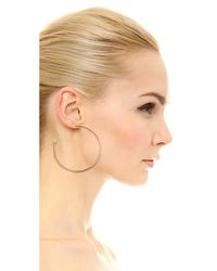 Vita Fede | Pink Large Hoop Earrings With Crystal Cones - Rose Gold/clear | Lyst