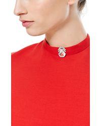 Fd Gallery | Metallic Vintage Art Deco Rock Crystal and Diamond Clip Brooch | Lyst