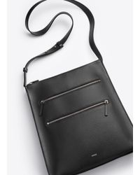 Vince - Black Zip Line Medium Messenger - Lyst