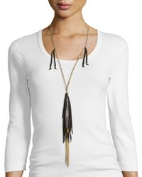 Johnny Was | Black Long Necklace W/ Tassels | Lyst