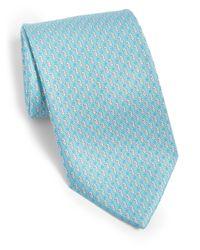 Ferragamo - Blue Silk Seahorse Tie for Men - Lyst