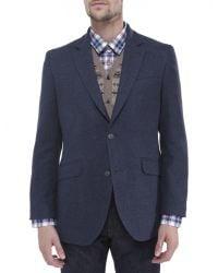 Jules B - Blue Mens Wool Blend Hacking Jacket for Men - Lyst
