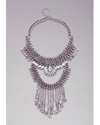 Bebe | Metallic Chainlink  Coin Necklace | Lyst