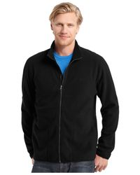 Izod | Black Big And Tall Full-zip Fleece Jacket for Men | Lyst