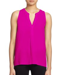 Joie - Pink Aruna Silk Sleeveless Blouse - Lyst