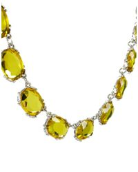 ASOS - Yellow Oval Stone Necklace - Lyst