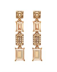 Oscar de la Renta - Metallic Crystal Baguette Drop Earring - Lyst
