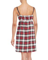Lord & Taylor - Red Cotton Plaid Nightgown - Lyst