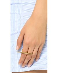 Michael Kors - Metallic Statement Tribal Ring - Gold - Lyst