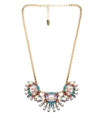 Elizabeth Cole - Elliptical Necklace in Metallic Gold - Lyst