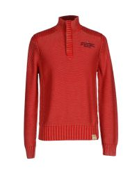 Napapijri - Red Turtleneck for Men - Lyst