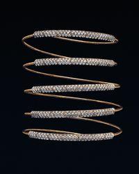 Mattia Cielo | Metallic Five-row Diamond Wrap Bracelet | Lyst