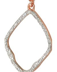 Monica Vinader | Pink Riva Rose Gold-Plated Diamond Earrings | Lyst