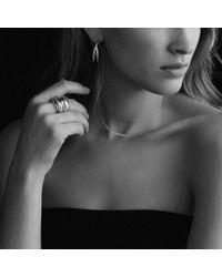 David Yurman - Metallic Crossover Hoop Earrings in Gold - Lyst