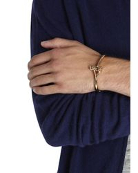 Miansai | Metallic Rose Gold Plated Bangle for Men | Lyst