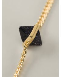 Eddie Borgo - Blue '9 Station' Gemstone Pyramid Necklace - Lyst