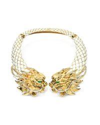 Roberto Cavalli - Metallic Enamel and Brass Dragon Necklace - Lyst