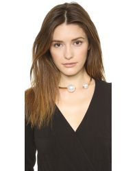Kenneth Jay Lane - White Dual Imitation Pearl Choker Necklace - Pearlgold - Lyst