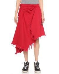 Marques'Almeida   Deconstructed Draped Skirt - Red   Lyst